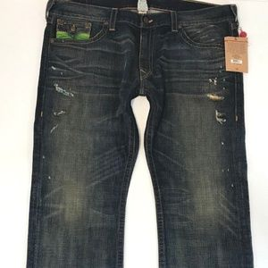 True Religion Men Ricky Straight Jeans SZ 44x34